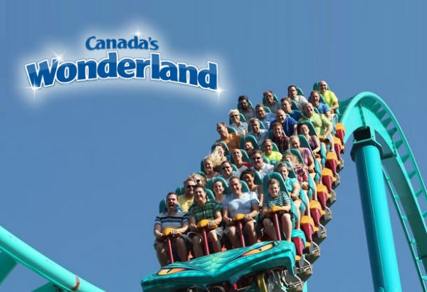 Canada's Wonderland Amusement Park Near Toronto, Ontario, Canada