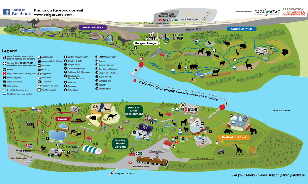Calgary Zoo Visitor's Map