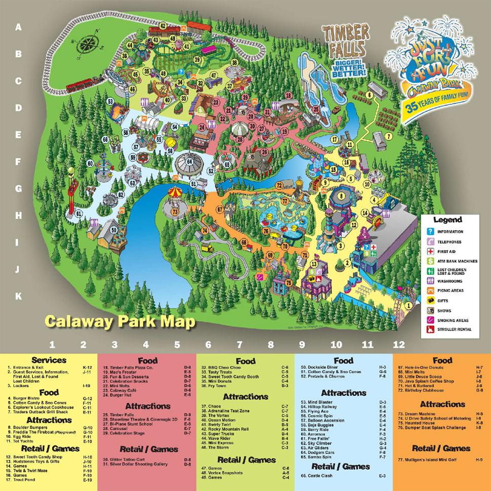 Calaway Park Amusement Park in Calgary, Alberta