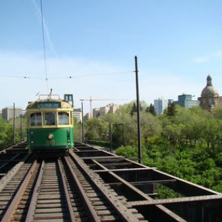 High Level Bridge and Streetcar in Edmonton, Alberta