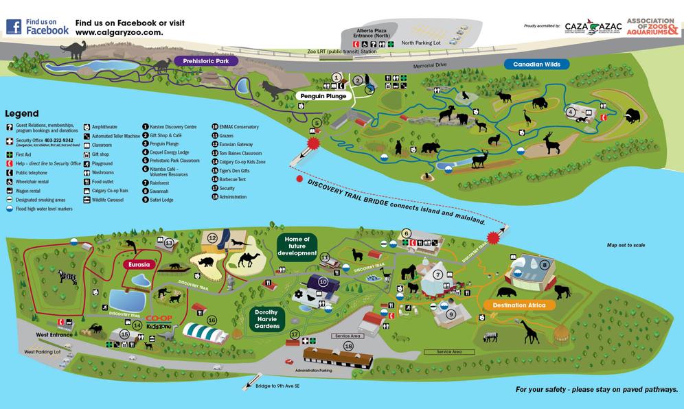 Calgary Zoo Map Calgary Zoo – Go Travel Canada